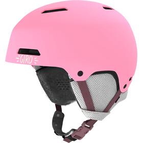 Giro Crüe Kypärä Lapset, matte pink namuk